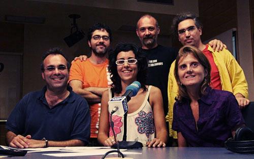 El equipo de extraradi y Barcelona Photobloggers (foto Marcelo Aurelio)
