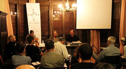 Isaac Feijo, Sílvia Omedes y Tino Soriano en taller Cómo vivir de la fotografía. Foto: Marcelo Aurelio.