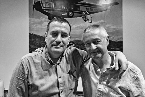 Eduard Márquez y Manel Úbeda en Barcelona Visions. 2013 foto Marcelo Aurelio